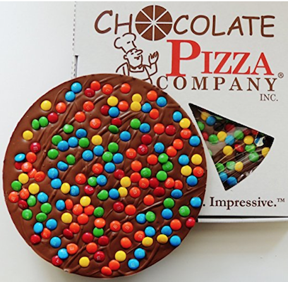 Candy Topped Chocolate Pizza