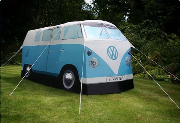 VW Volkswagen van shaped tent