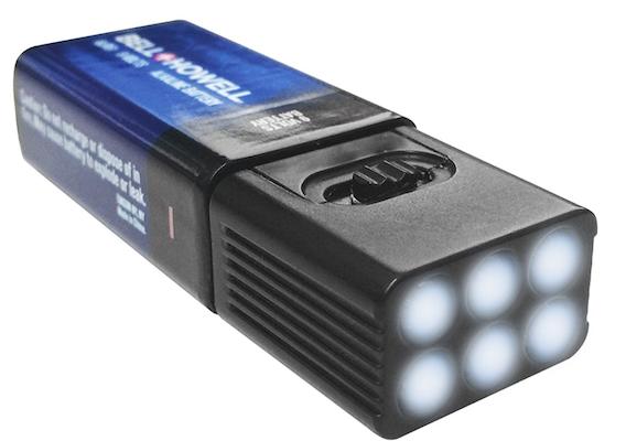 9V LED Flashlight with Free Battery