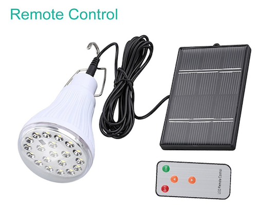 Solar Light powered bulb with Remote control