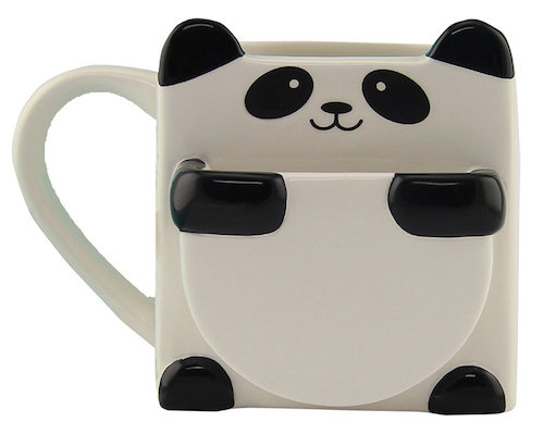 Panda Hug Mug with Pocket for cookie or biscuit
