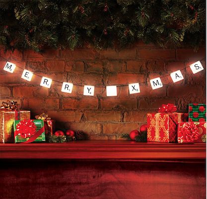 scrabble lights christmas home decor idea