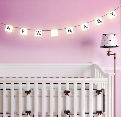 scrabble lights new baby home decor idea