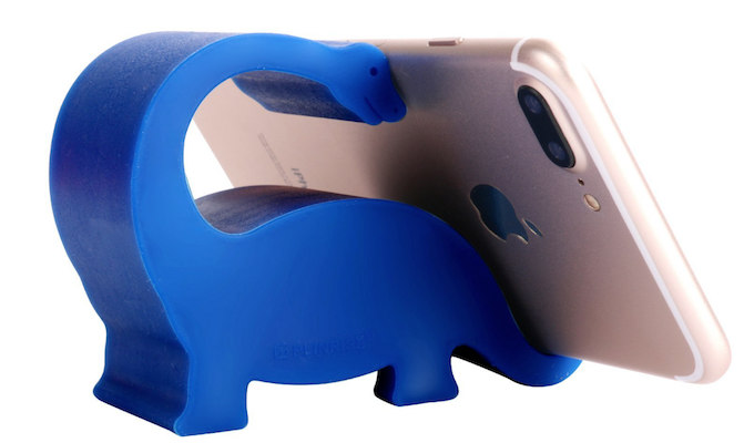 candy colored Dinosaur shaped phone and tablet holder