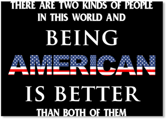 4th of july sticker with ultimate American pride and patriotism quote